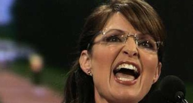 Sarah Palin during her speech at the Republican National Convention.