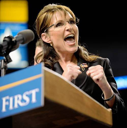 Sarah Palin exemplifies all the worst traits of paranoid politics found within America today.