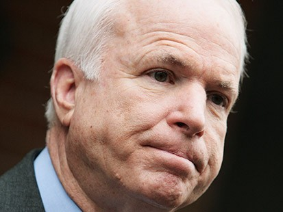 "Former GOP presidential candidate John McCain comments on his running mate Sarah Palin's new book ""Going Rogue."""