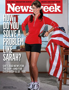 Sarah Palin featured on the cover of this week's Newsweek magazine, in a photo previously used in the August 2009 issue of Runners World